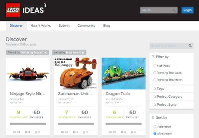 Les projets Lego Ideas