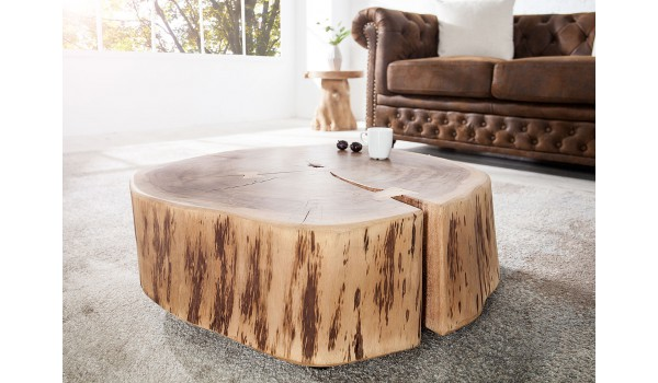 table d appoint table basse bois massif acacia