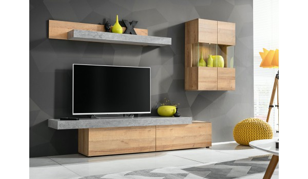 meuble tv design vitrine etagere murale