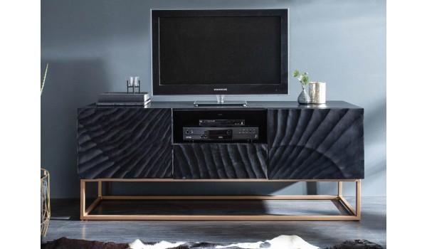meuble tv contemporain bois et metal