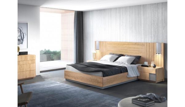 lit adulte avec sommier relevable 160x200 cm