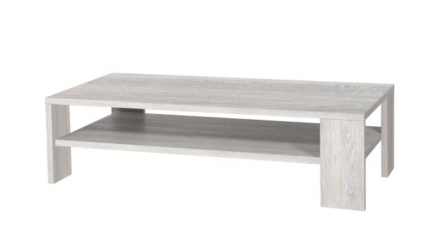 table basse rectangulaire chene gris clair