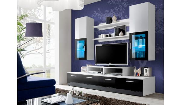 ensemble tv mural noir blanc