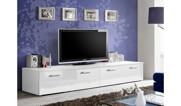 Meuble TV Bas 2m Blanc Pour Meuble Tv