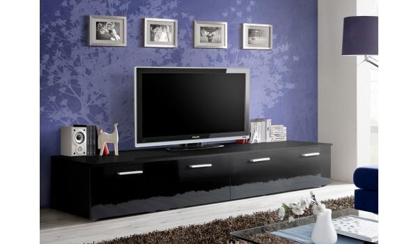 meuble tv bas 2m noir
