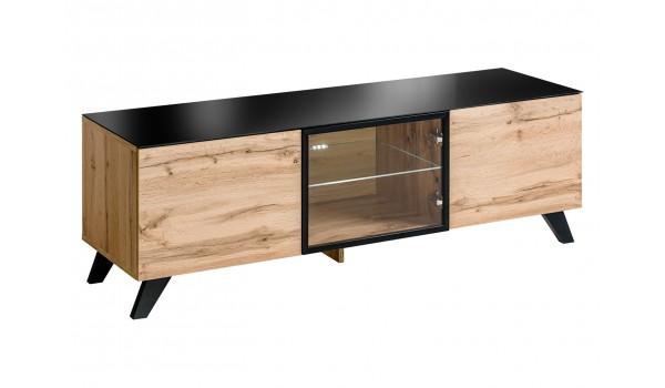meuble tv bas en bois scandinave