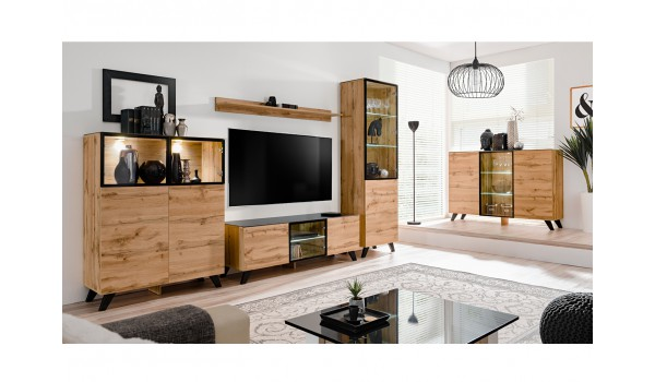 meuble de salon en bois moderne style scandinave