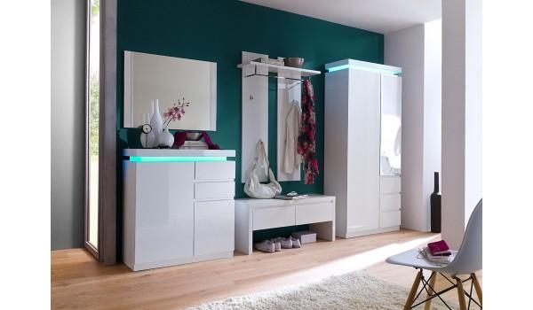 meuble d entree design blanc laque