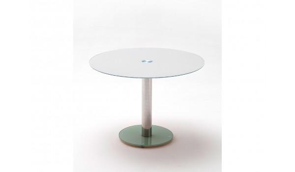 table ronde en verre 2 coloris modernes
