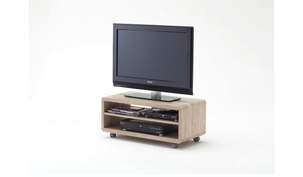 meuble tv a roulettes chene clair