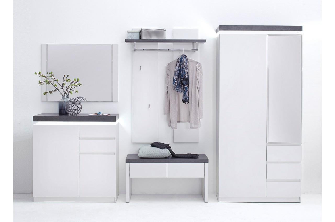 Meuble Dentre Design Blanc Amp Gris Pour Ensemble Chaussures