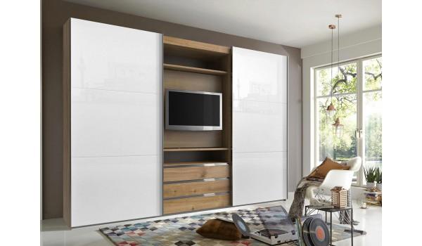 armoire dressing avec emplacement tv