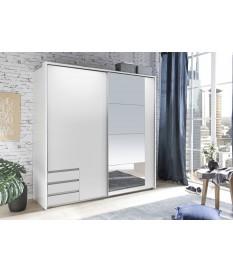 armoire blanche avec miroir rangement