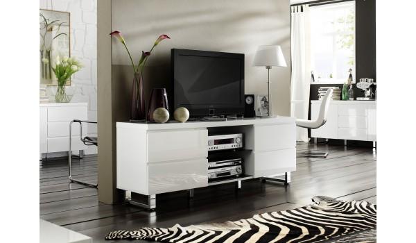meuble tv blanc laque design
