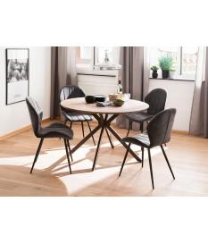 table ronde design pas cher bois