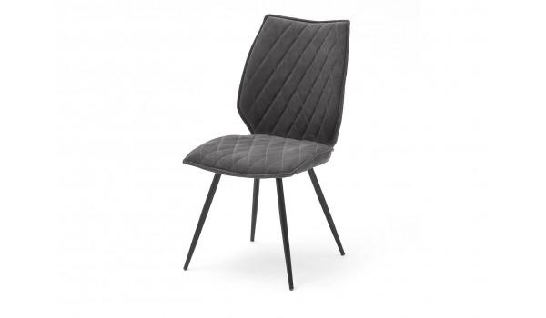 chaise design en tissu pas cher tissu gris ou sable