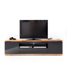meuble tv noir et bois design pour salon