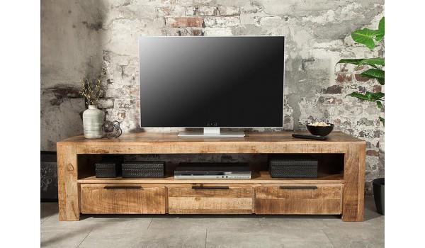 meuble tv en bois massif 170 cm
