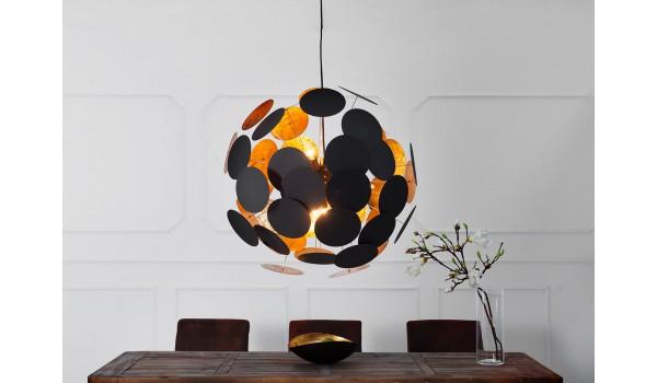 luminaire design or et noir o 70 cm