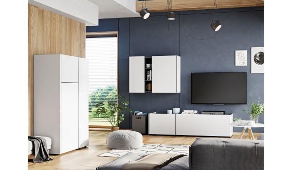ensemble de meuble de salon blanc gris