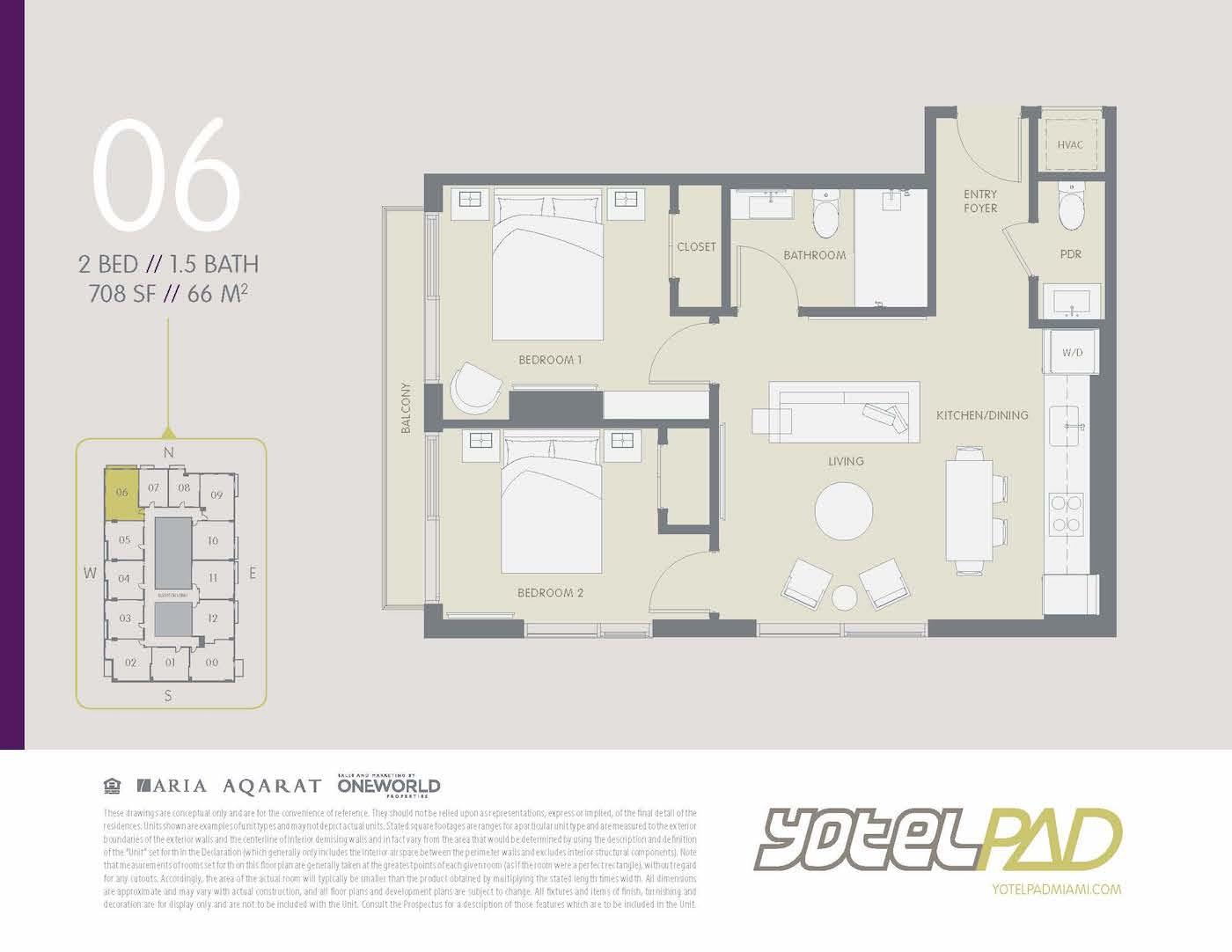2 BED YOTEL PAD