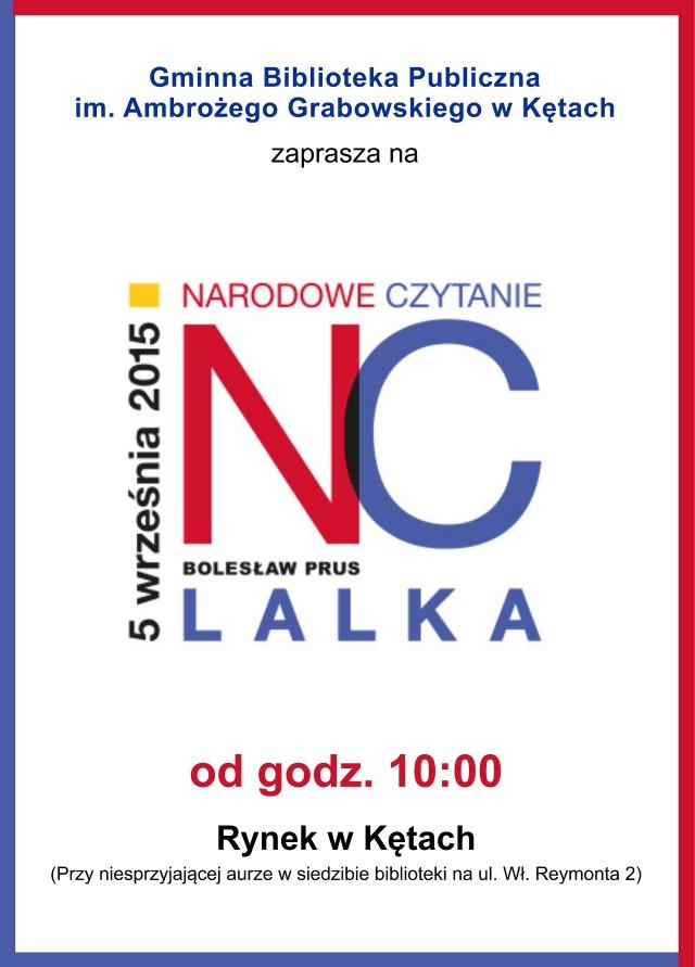 _Plakat 05.09.2015 Narodowe Czytanie (Lalka B.Prus)