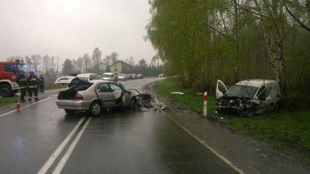 KPP Oświęcim Brzeszcze wypadek drogowy śmiertelny 09.04.2016 (4)