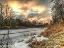 Rzeka Świder zimą, Józefów