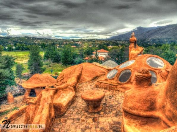 Gliniany domek - widok z góry, Villa de Leyva, podróż Kolumbia