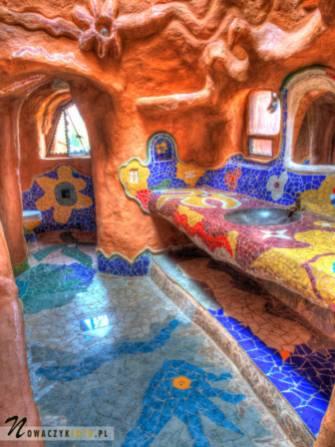 Gliniany domek - łazienka, Villa de Leyva, podróż Kolumbia