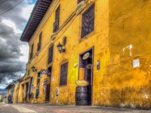 Kolorowe budynki w Tunja, podróż Kolumbia