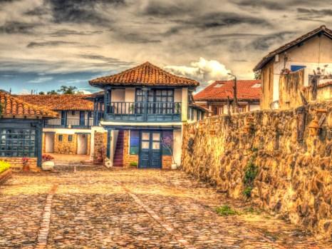 Uliczki w Villa de Leyva, podróż Kolumbia