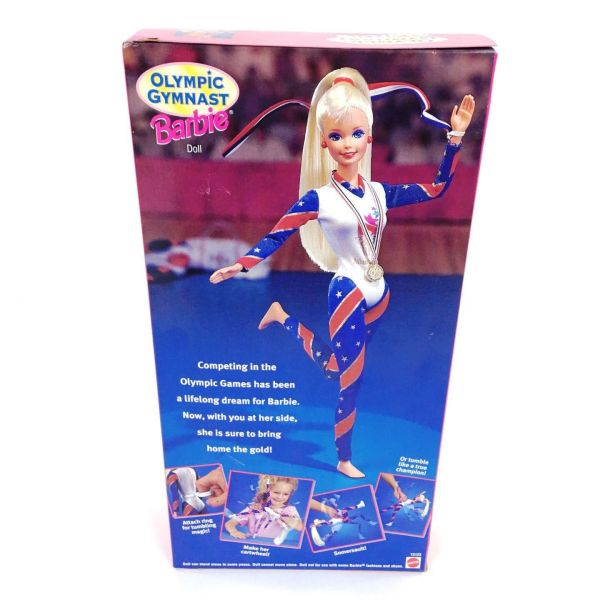 Olympic Gymnast Barbie Blonde Authentic Atlanta Games 1996 Collection Toys
