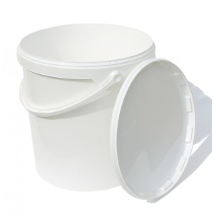 Zubehör für Innentoiletten: 21 L Eimer aus Kunststoff mit Deckel. Für Komposttoilette