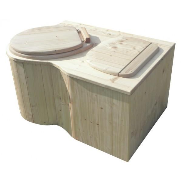 Komposttoilette für Zuhause - Modell 'Der Eck-Schmetterling', Sitz links, unbehandelt