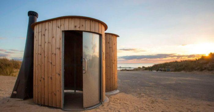 nowato - Trockentoilette Kazuba KL2 Barrierefrei mit Urinal - am Strand 2