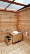 Toilette Modell 'Wald' Innenansicht 1