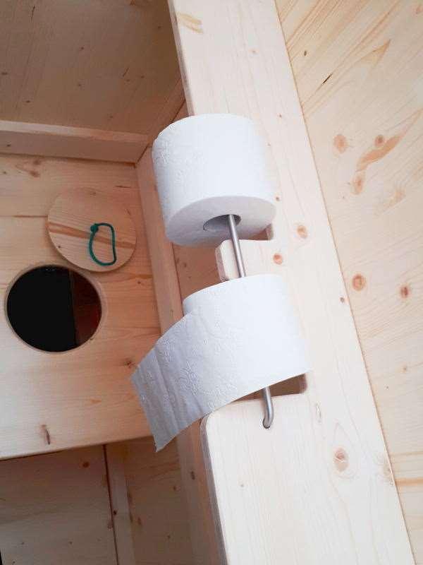 Komposttoilette 'Wiese' aus Fichte · Innenansicht
