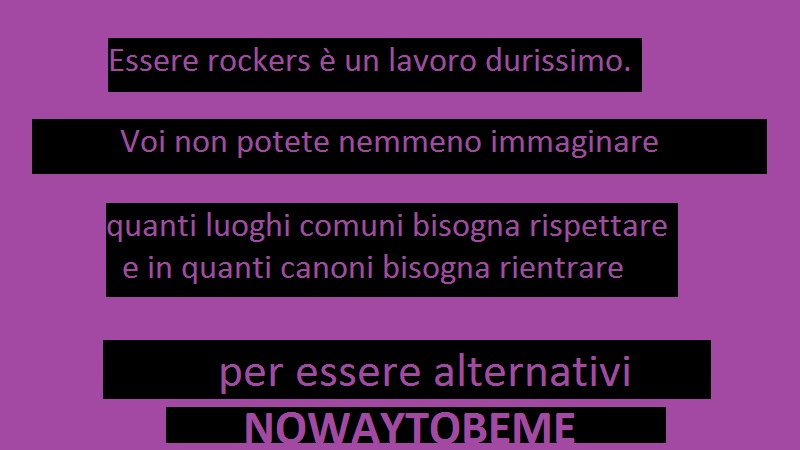 I Rockers e i Canoni per Essere Alternativi