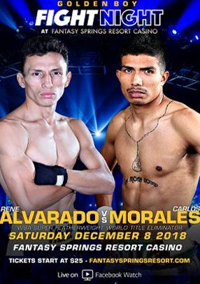 Rene Alvarado vs Carlos Morales Free Facebook Watch Live Stream