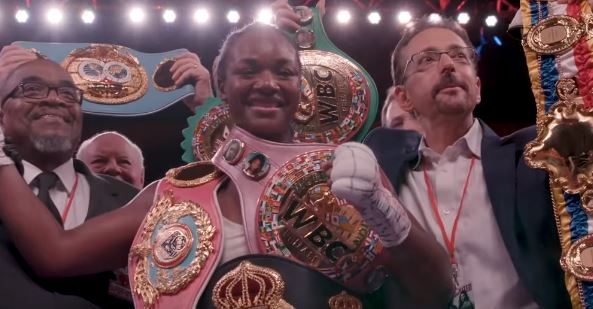 Female champ Claressa Shields thinks she can beat up Keith Thurman and compete with Golovkin
