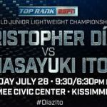 Christopher Diaz takes on Masayuki Ito for the WBO title on ESPN + Live Stream App