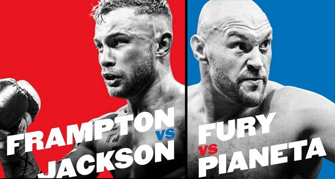 Tyson Fury vs. Francesco Pianeta, Carl Frampton vs. Luke Jackson Live YouTube Video Stream