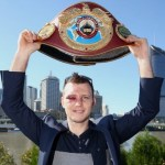 Jeff Horn smiles with belt
