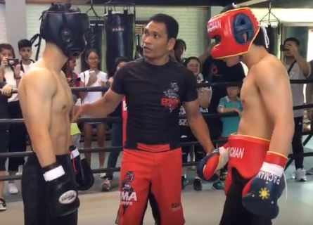 Video of Manny Pacquiao's son Jimuel in his first boxing match