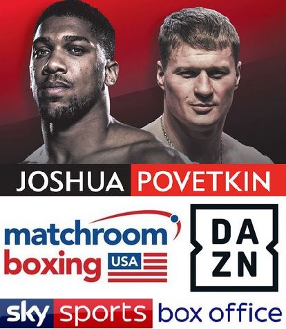Anthony Joshua vs Alexander Povetkin live on Sky Sports and DAZN Streaming App