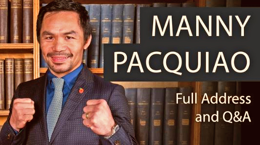 VIDEO: Manny Pacquiao Full Address and Question and Answer at Oxford Union