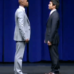 Mayweather looked nervous at Pacquiao presser