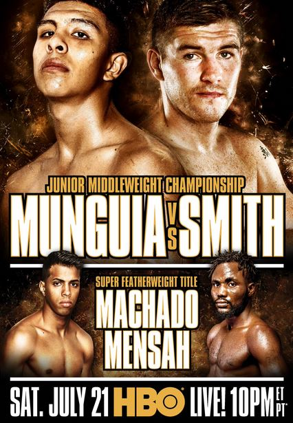 Jaime Munguia vs Liam Smith, Machado vs Mensah LIVE Championship Doubleheader on HBO