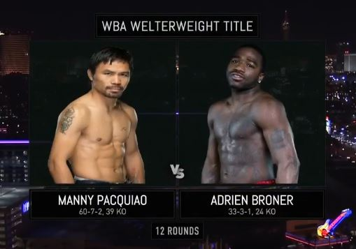 Manny Pacquiao vs Adrien Broner Full Fight Video Rebroadcast